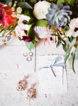 Organic wedding invitation