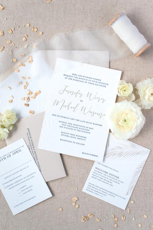 Jennifer's Wedding Invitation Suite