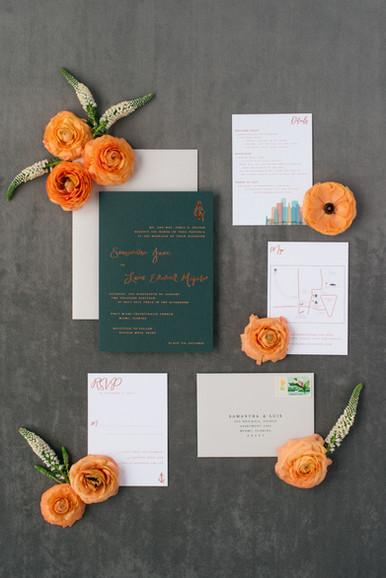 Samantha Wedding Invitation Suite