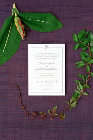 Christine wedding invitation