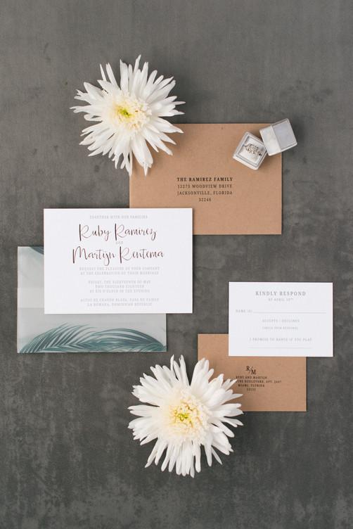Ruby Wedding Invitation Suite