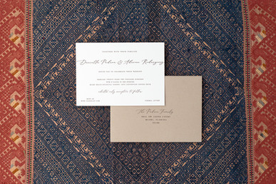 Daniella wedding invitation