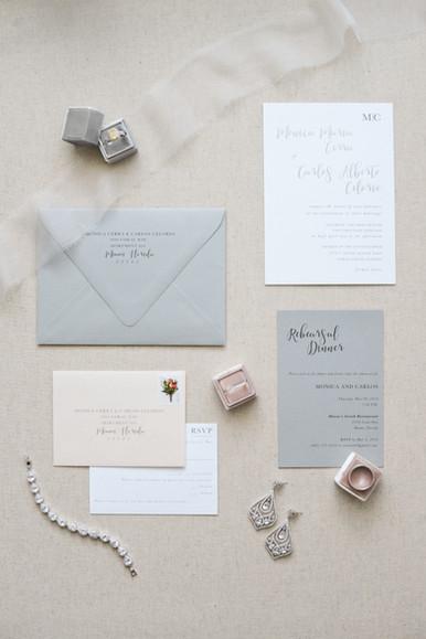 Monica and Carlos Wedding Invitation
