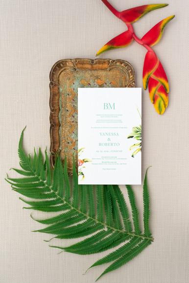 Vanessa wedding invitation