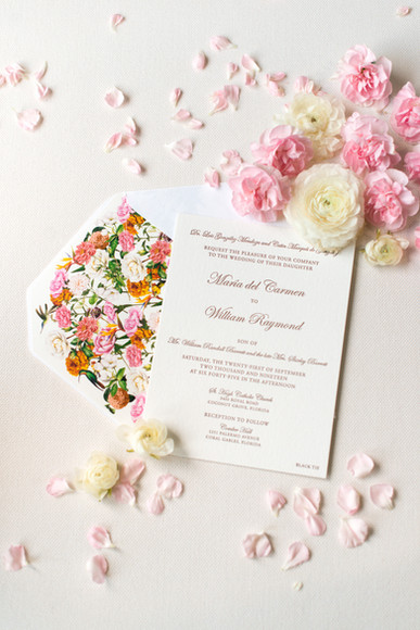 Maria del Carmen Wedding Invitation