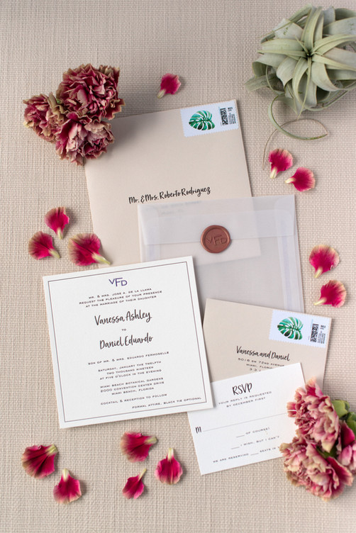 Vanessa's Wedding Invitation Suite