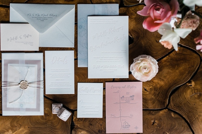 Whimsical wedding inviation