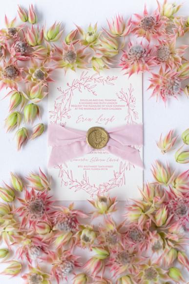 Erin wedding invitation
