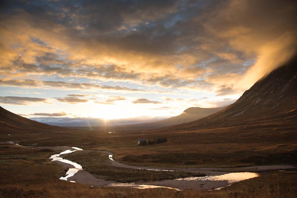 Scotland, Glen Coe, Laurie Ann Haus, Sunrise, Highlands