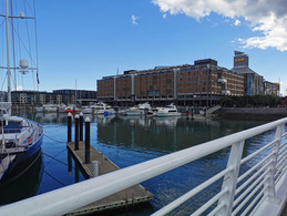 Auckland Wharf: Yachts and Markets