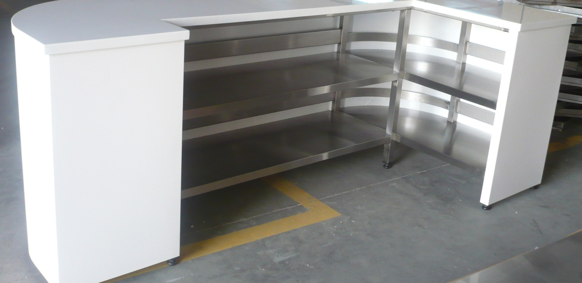 Counter With Shelf