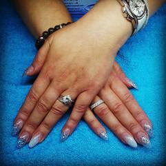 Glimmer akryl negle