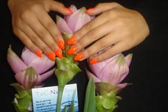Akryl negle med gelé farve