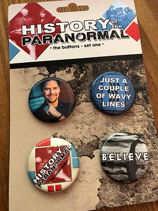 History of the Paranormal Button Set 1