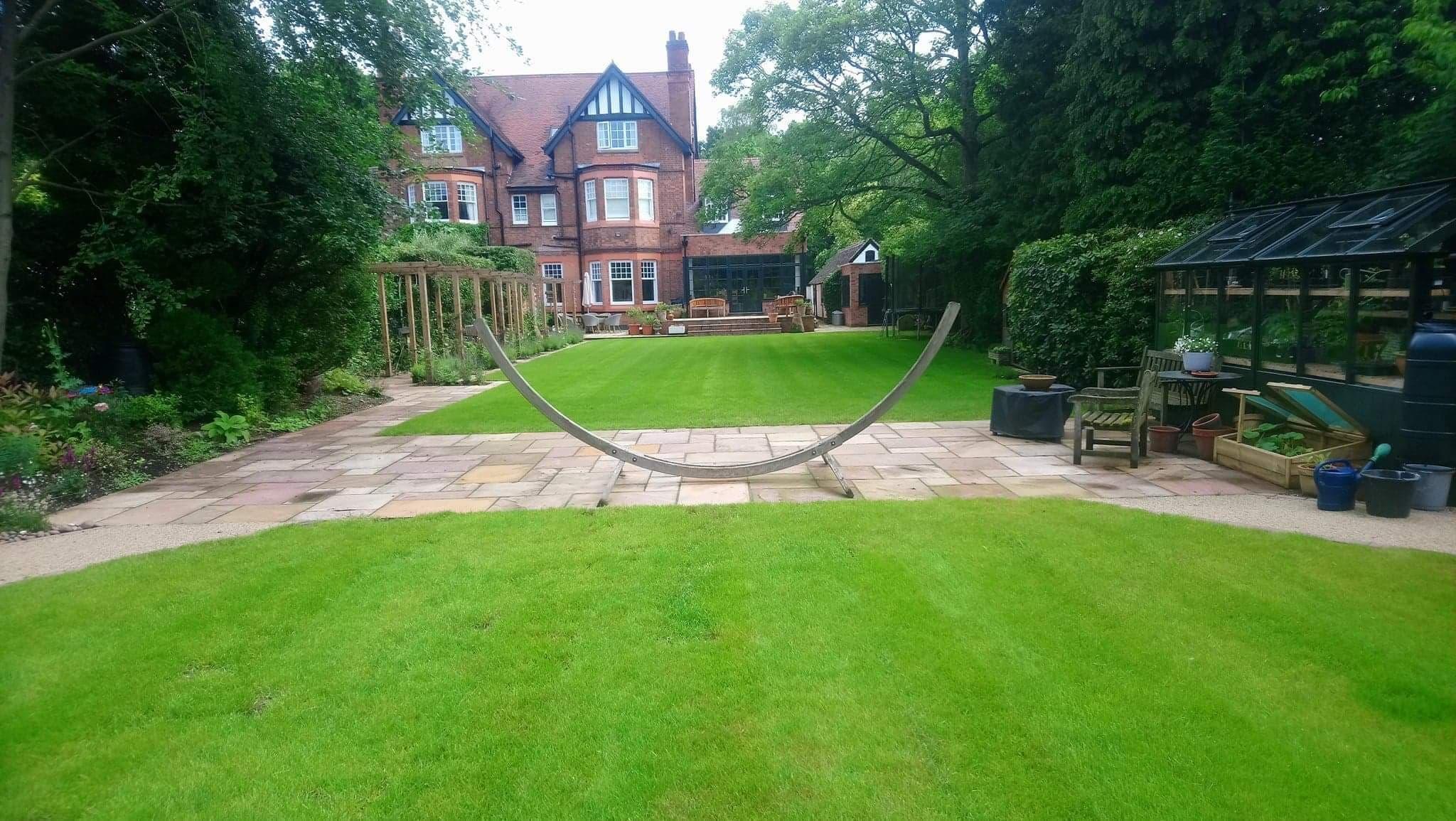 Large lawn in Four Oaks