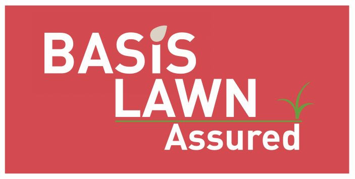 Kingsbury Lawn Care / lawn treatment service / this image is of the BASIS Lawn Assured logo