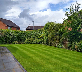 Kingsbury Lawn Care   Lawn Fertiliser   This image is of a striped rear lawn in Nuneaton in excellent condition