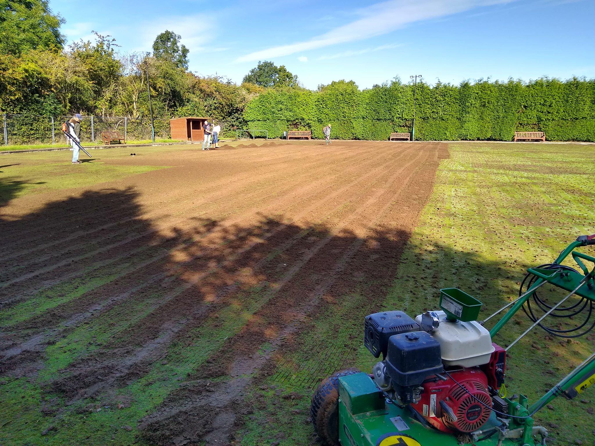 Large area lawn seeding