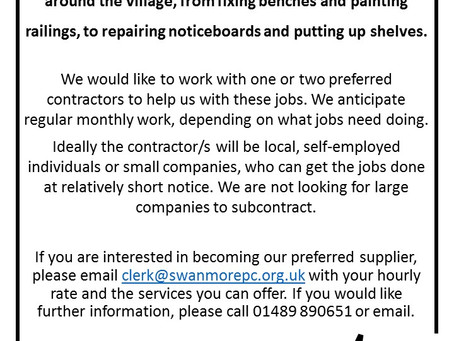 We are looking for a village maintenance contractor...
