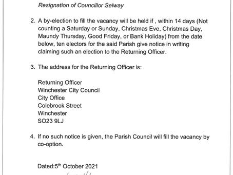 Parish Councillor Resignation
