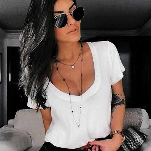 Blusa Tshirt Camiseta Feminina Podrinha Manga Curta Tendência Instagram