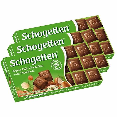 Chocolate Alemão Ao leite Avelã Schogetten 100g