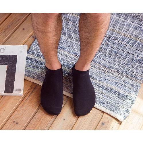 Kit 12 Meias Masculinas Soquete Cano Curto Baixo Algodão Preta