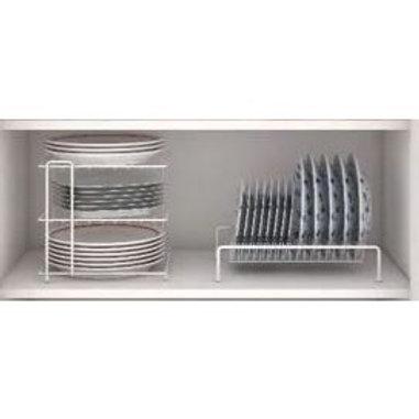 Suporte Organizador Quadrado  para Pratos Cozinha Armário