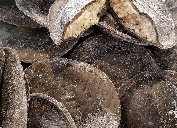 Ravioli encre de seiche truffe/cèpes- 200gr