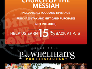 Dine & Donate July 10th PJ Whelihan's
