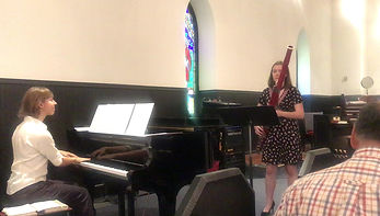 Thank you Brenna Zepp for joining us on July 21! We thoroughly enjoyed the Allegro scherzando from the Sonata for Bassoon and Piano by Saint-Saens.