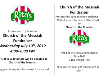 Get rewards at Rita's same day as PJ Whelihan's Dine & Donate!
