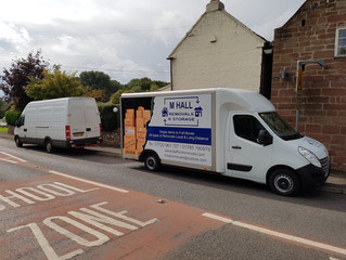 A 2 van house removal we did recently. Hinstock to newport.