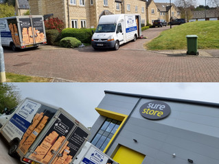 House Removal today from Kettering to Surestore Stafford