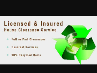 We offer a full insured house clearance service