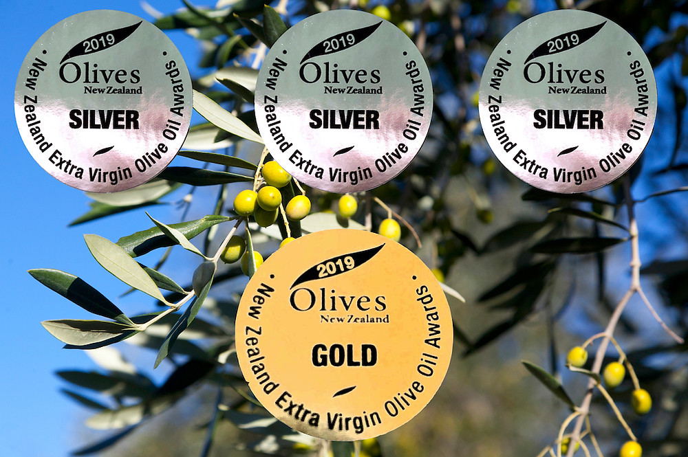 Three silvers and a gold at the 2019 Olives New Zealand Awards
