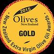 2015 Olives New Zealand Gold Medal
