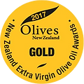 2017 Olives New Zealand Gold Medal