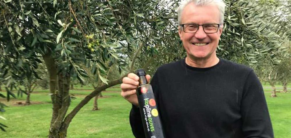 Loopline Olives Owner Stephen Davies Howard winner of New York International Olive Oil Copetition Gold Medal