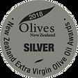 2018 Olives New Zealand Silver Medal