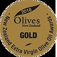 2018 Olives New Zealand Gold Medal