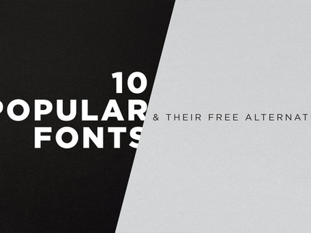 Free Fonts: 10 Popular Fonts & Their Free Alternatives