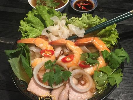 Soupe Pho aux crevettes de Chi Lan.