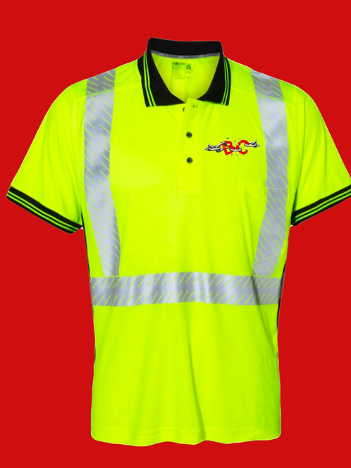 Fluorescent yellow & grey work top with your logo