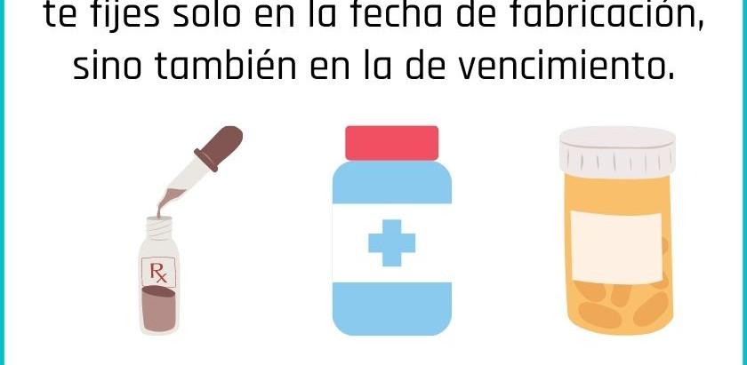 Piensa en tu salud antes de comprar productos farmacéuticos sin una fecha de vencimiento segura.