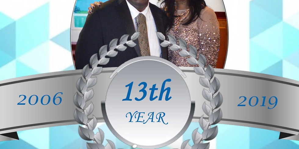 Pastor and Wife 13th Year Anniversary