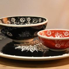 Florient bord 30 + bowl 15 + bowl 12