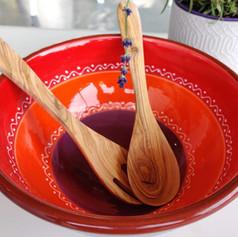 big bowl 26 met houten bestek
