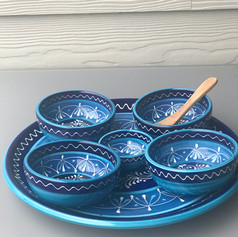 set 1 bord 31cm+2 bowls 12cm +2 bowls 11cm +1 bowl 7cm
