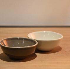 mini-bowls 8 cm taupe & kiezelgrijs